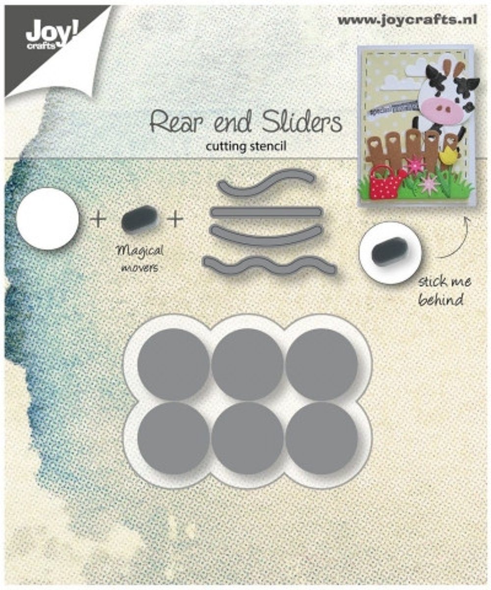 Joy!Crafts • snijstencil rear end sliders