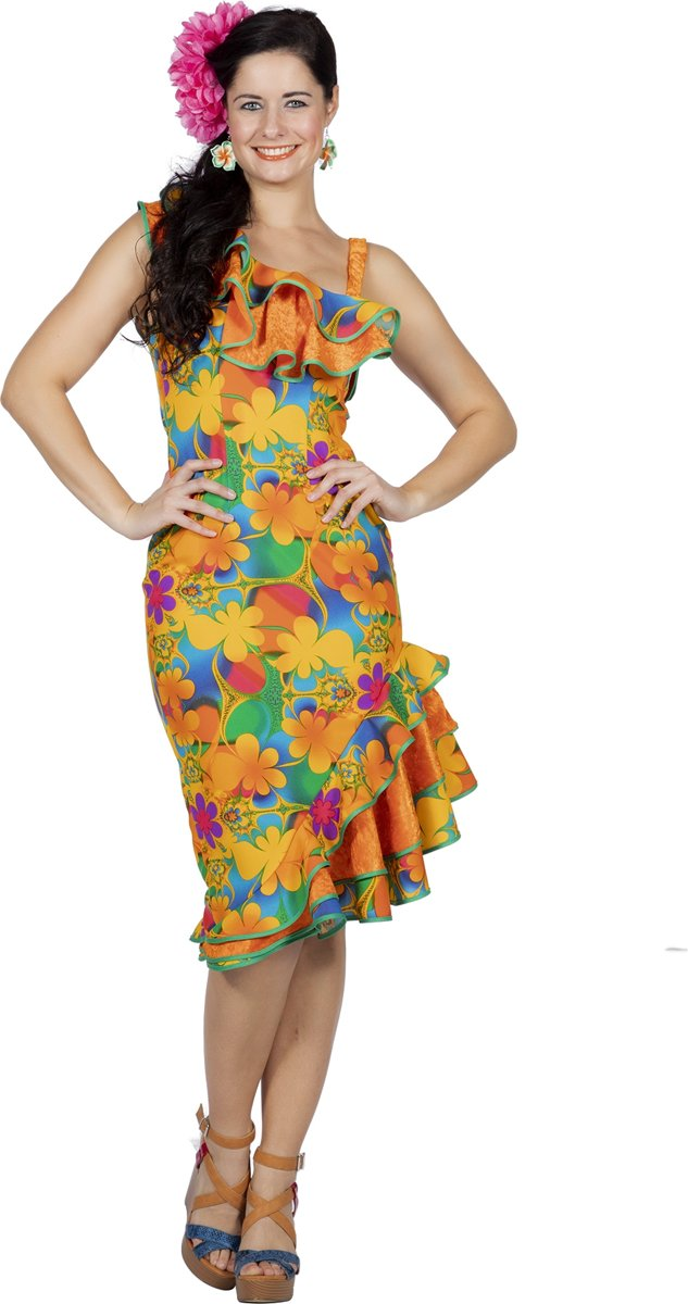Jurk Hawaii bloem multicolor
