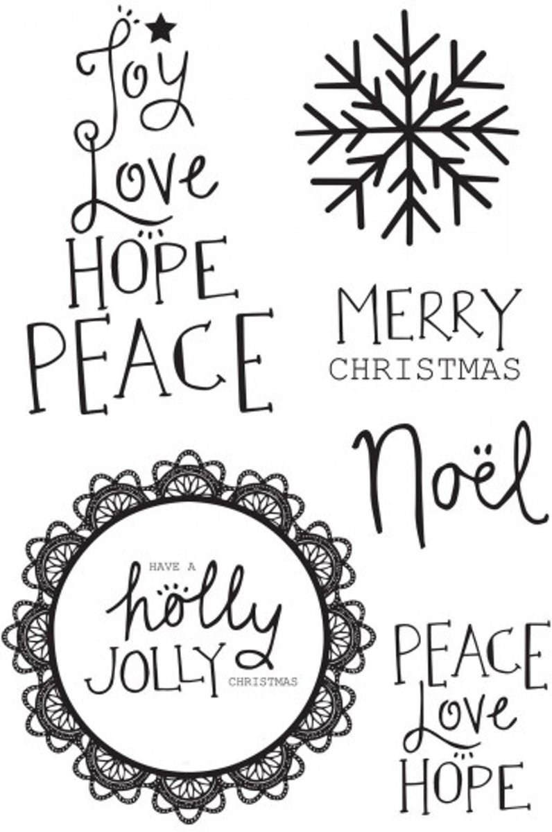 Kaisercraft clear stamp Holly jolly