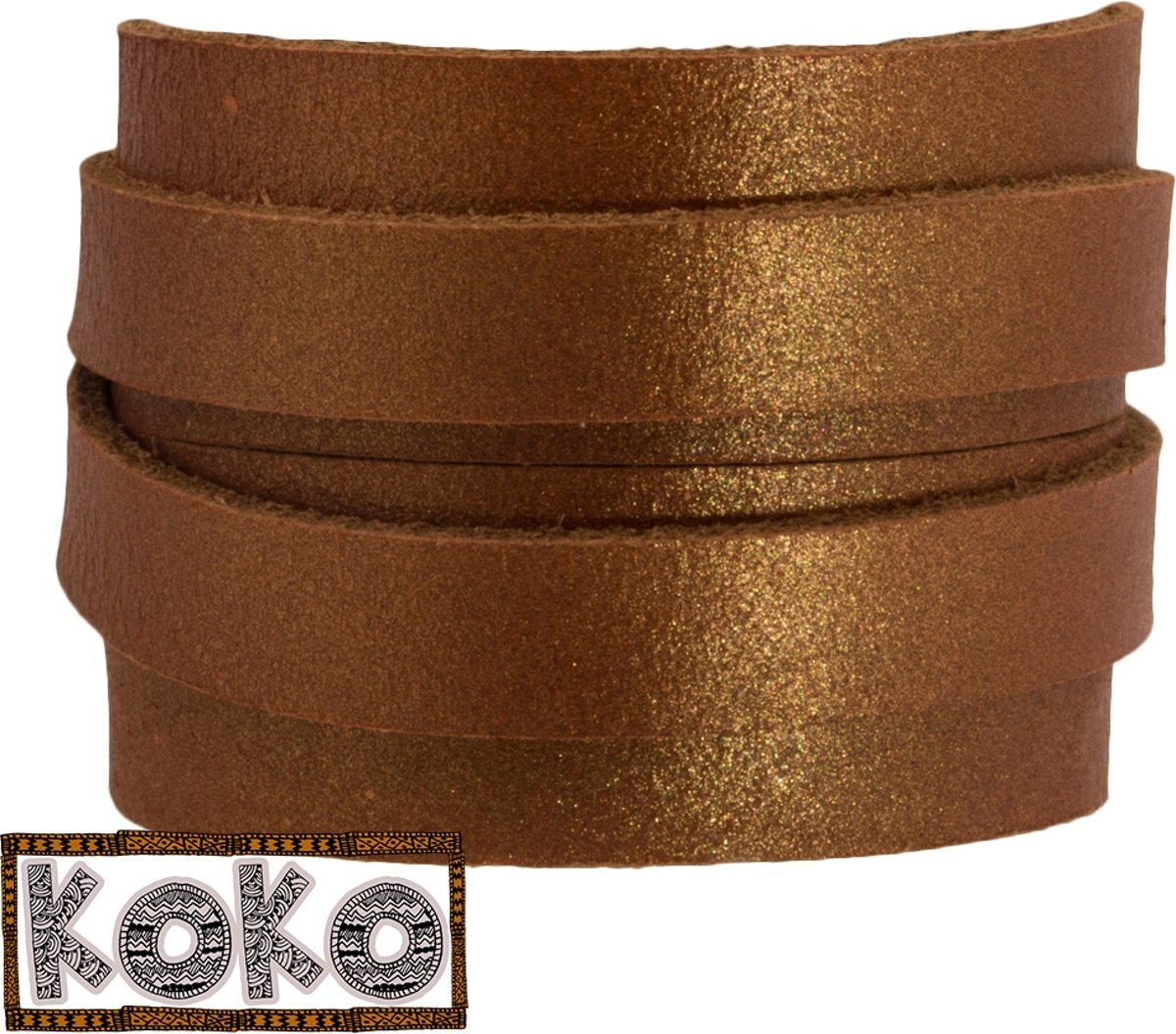 KoKo Leer (10 x 2 mm) Copper (1 Meter)