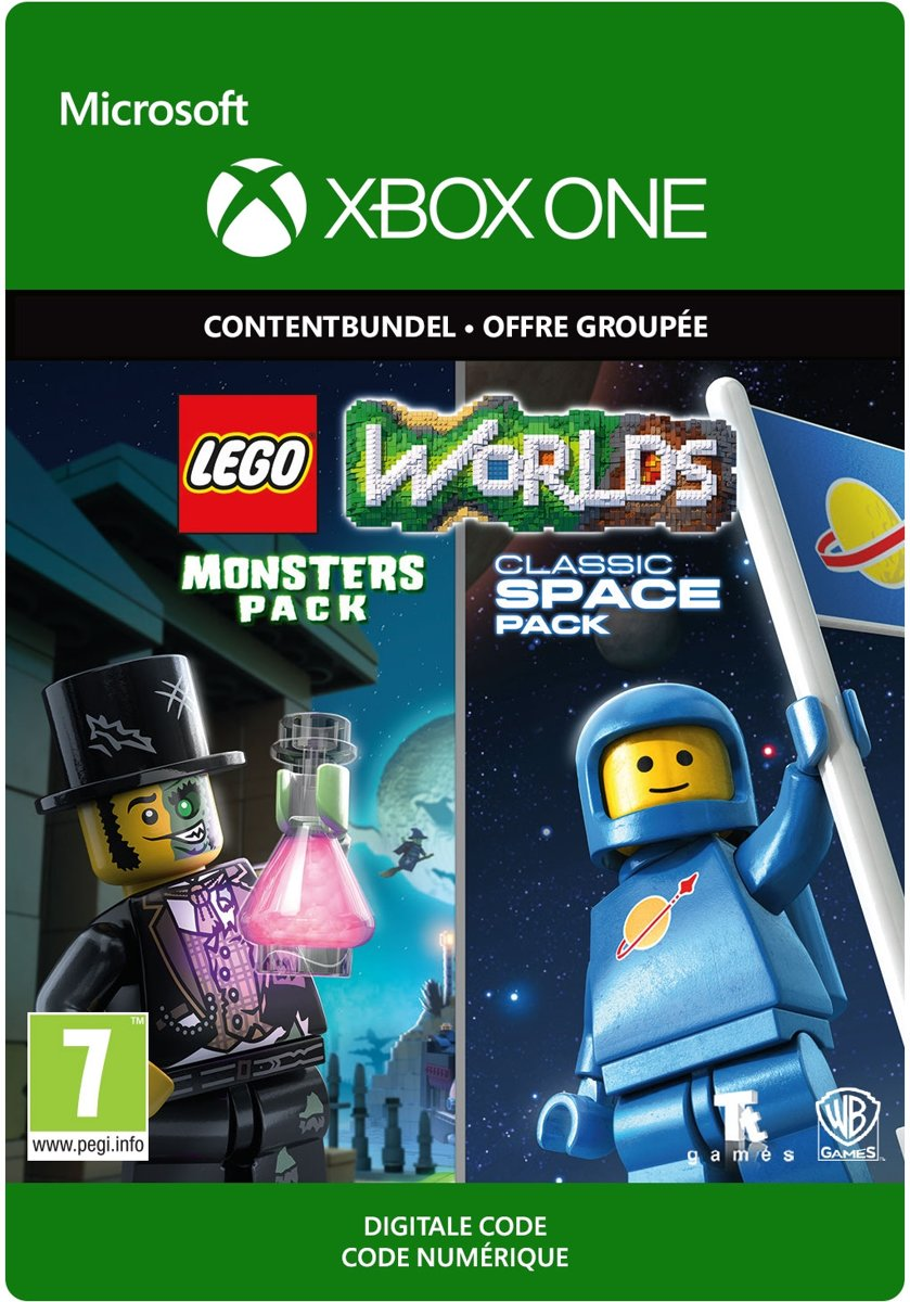 LEGO Worlds: Classic Space Pack and Monsters Pack - Content Bundel - DLC - Xbox One