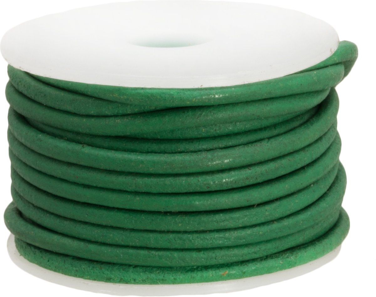 Leer Regular (2 mm) Emerald Green (5 Meter)