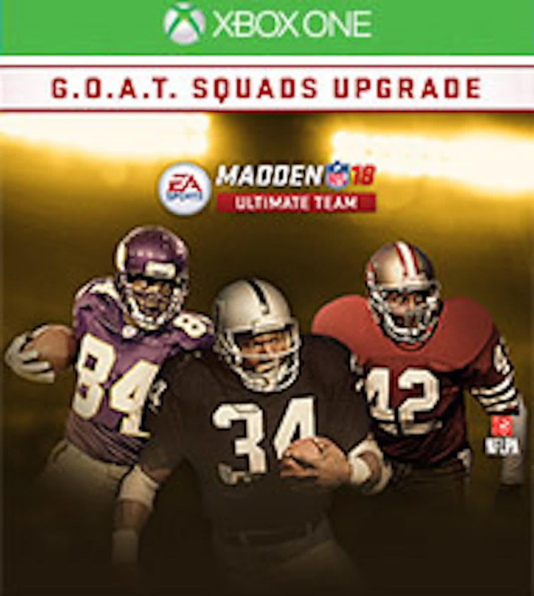 Madden NFL 18 - G.O.A.T. Squads Upgrade - Add-on - Xbox One