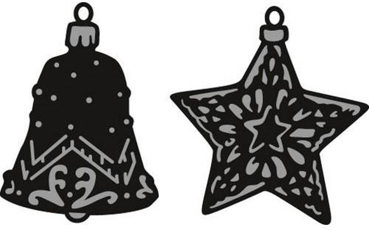 Marianne Design Craftable Mal Tinys ornaments star & bell CR1382