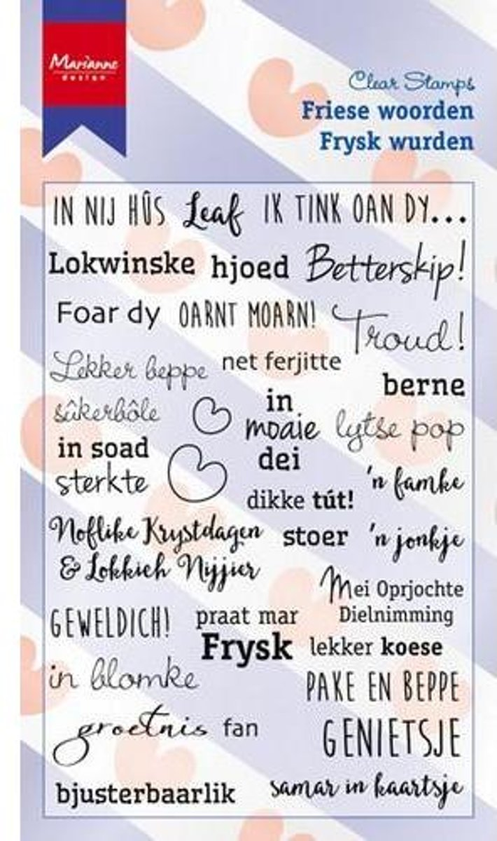 Marianne Design Stempel Friese woorden (Nederlands) CS0983 11x18,5cm