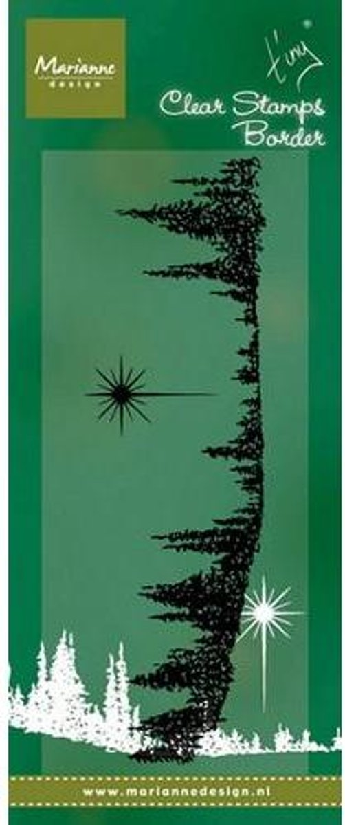 Marianne Design Stempel Tinys border - Pinetrees TC0843
