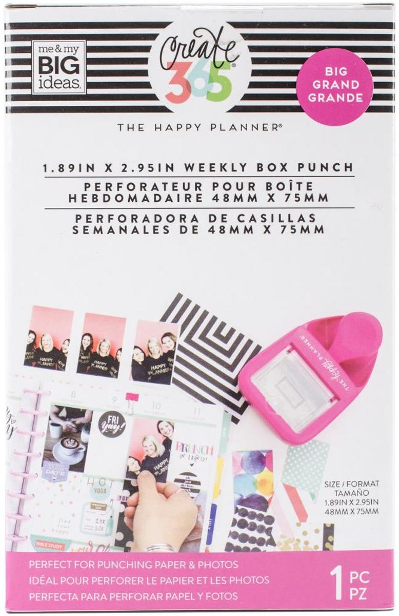 Me & my Big Ideas - Happy Planner Big weekly box punch - roze