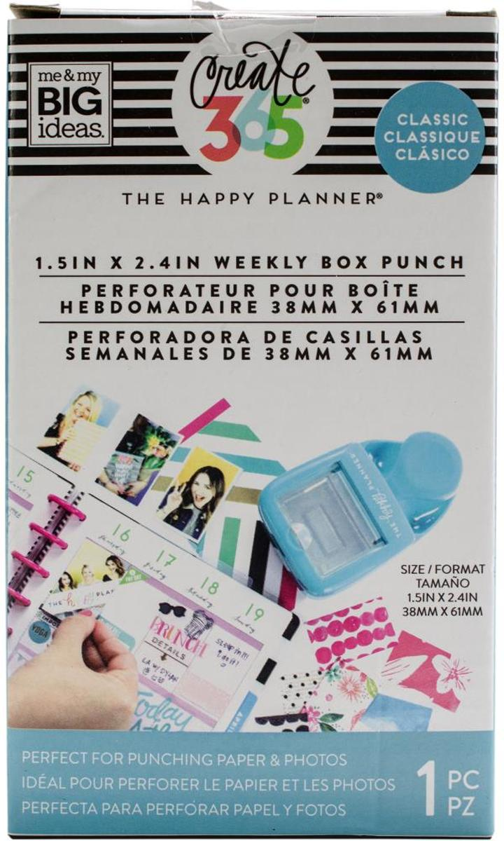 Me and My Big Ideas -  Happy Planner Classic weekly box punch - blauw