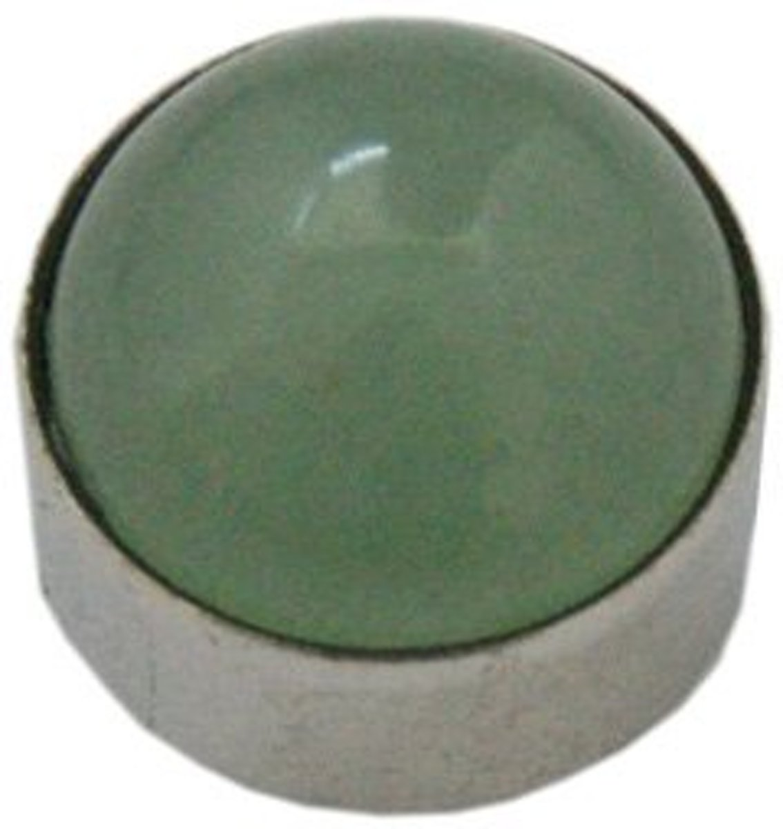 Metalen Ring element voor modulaire BREDE BASIS RING - Grote Groene Acryl Steen