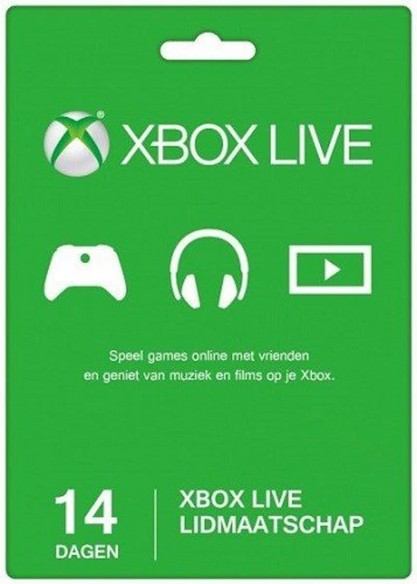 Microsoft Xbox Live Gold Abonnement 14 Dagen Proefperiode - Xbox 360 + Xbox One