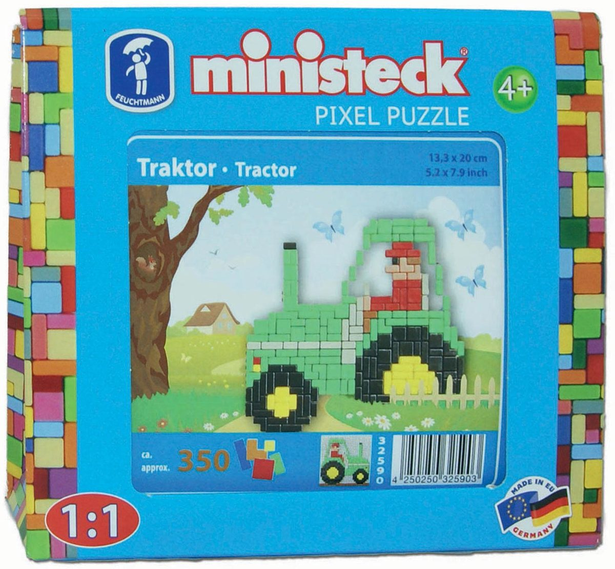 Ministeck Tractor, 350st. Afmeting artikel:. 13,3 x 13,3 cm