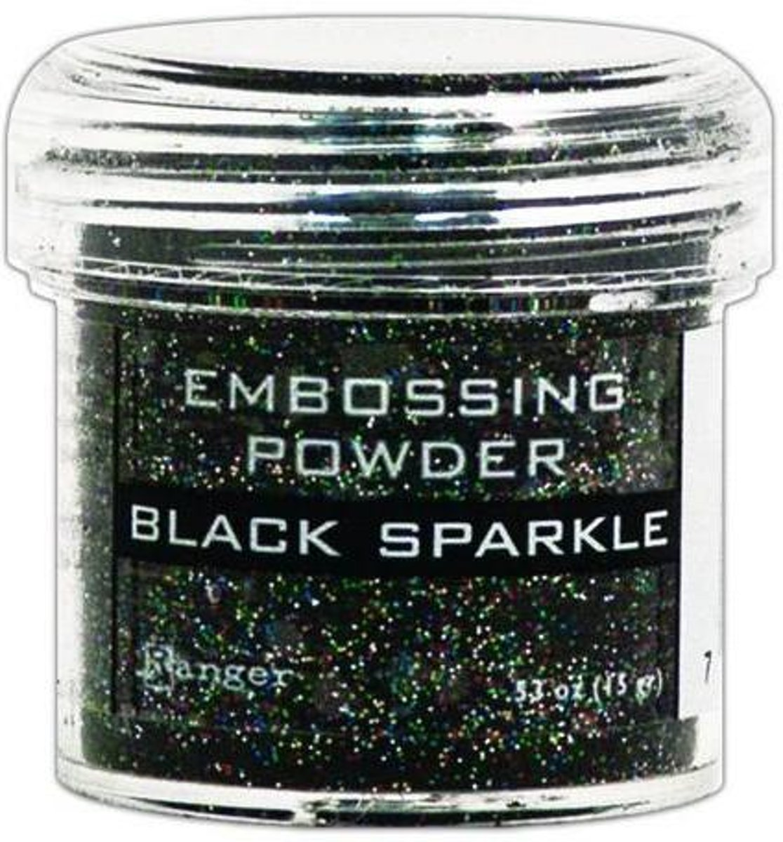 Ranger Embossing Powder 34ml - black sparkle