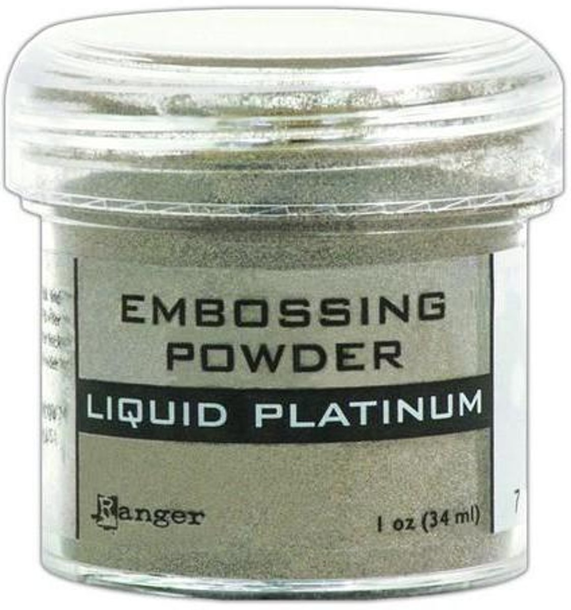 Ranger Embossing Powder 34ml - liquid platinum