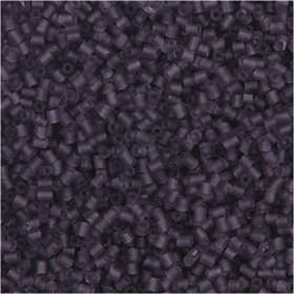 Rocailles, afm 15/0 , d: 1,7 mm, frosted lila, 2-cut, 25gr, gatgrootte 0,5 mm