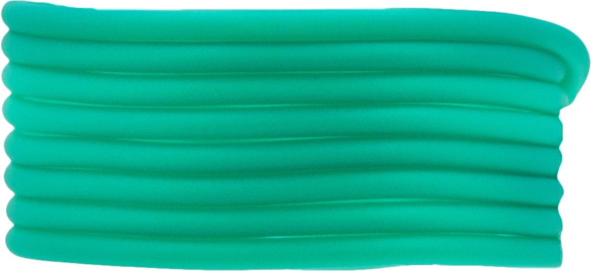 Rubber Koord (3 mm) Bright Sea  (5 Meter) holle binnenkant