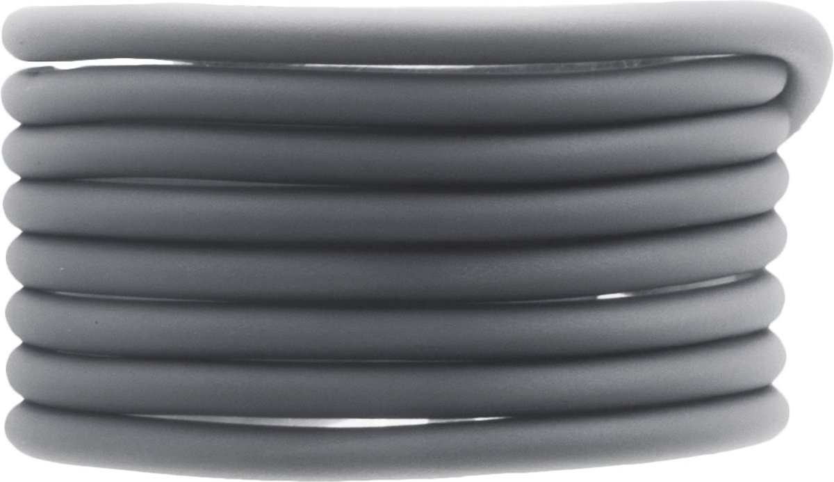 Rubber Koord (4 mm) Grey (5 Meter) holle binnenkant