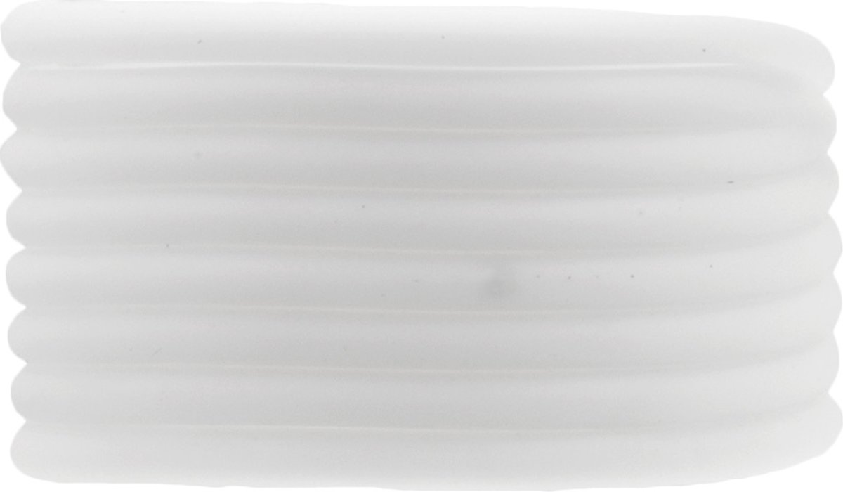 Rubber Koord (4 mm) White (5 Meter) holle binnenkant