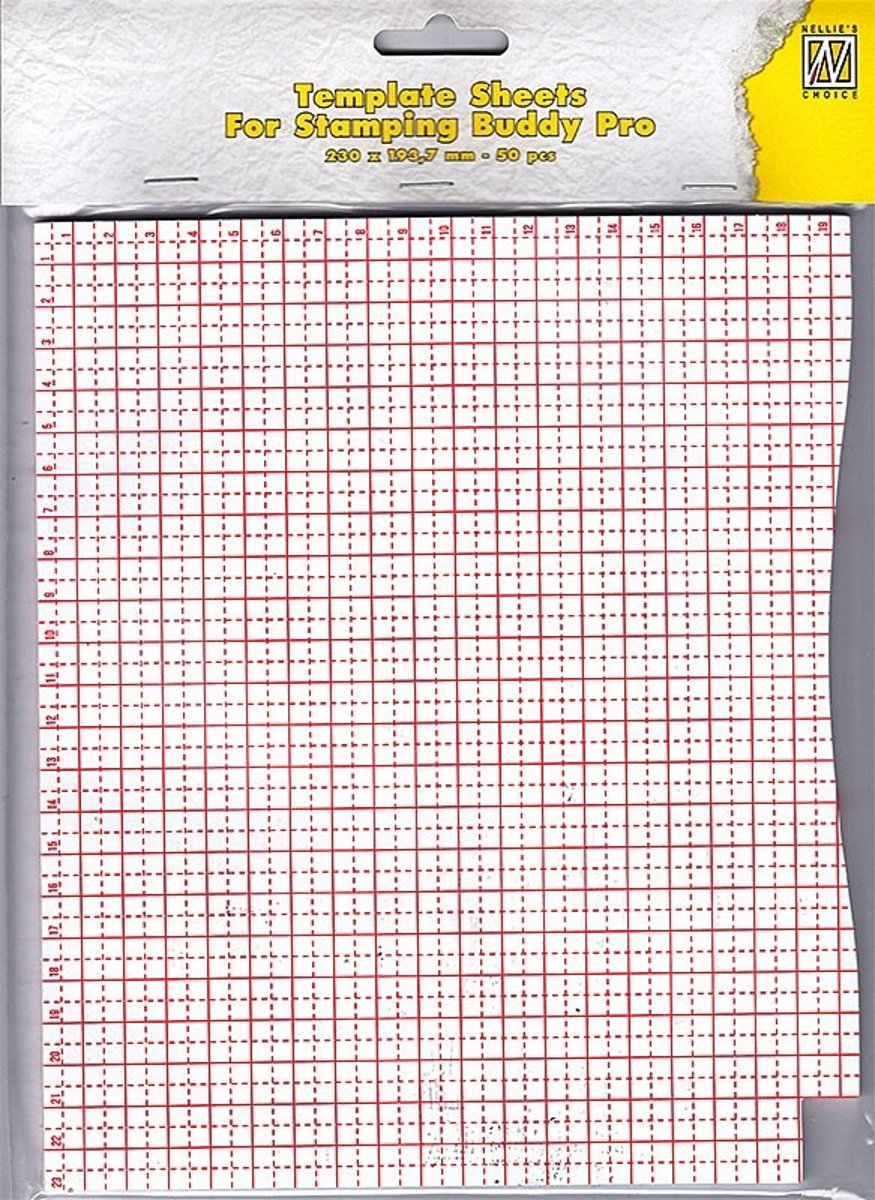 STBP001 50 blaadjes template sheets for stampingbuddy kladpapier