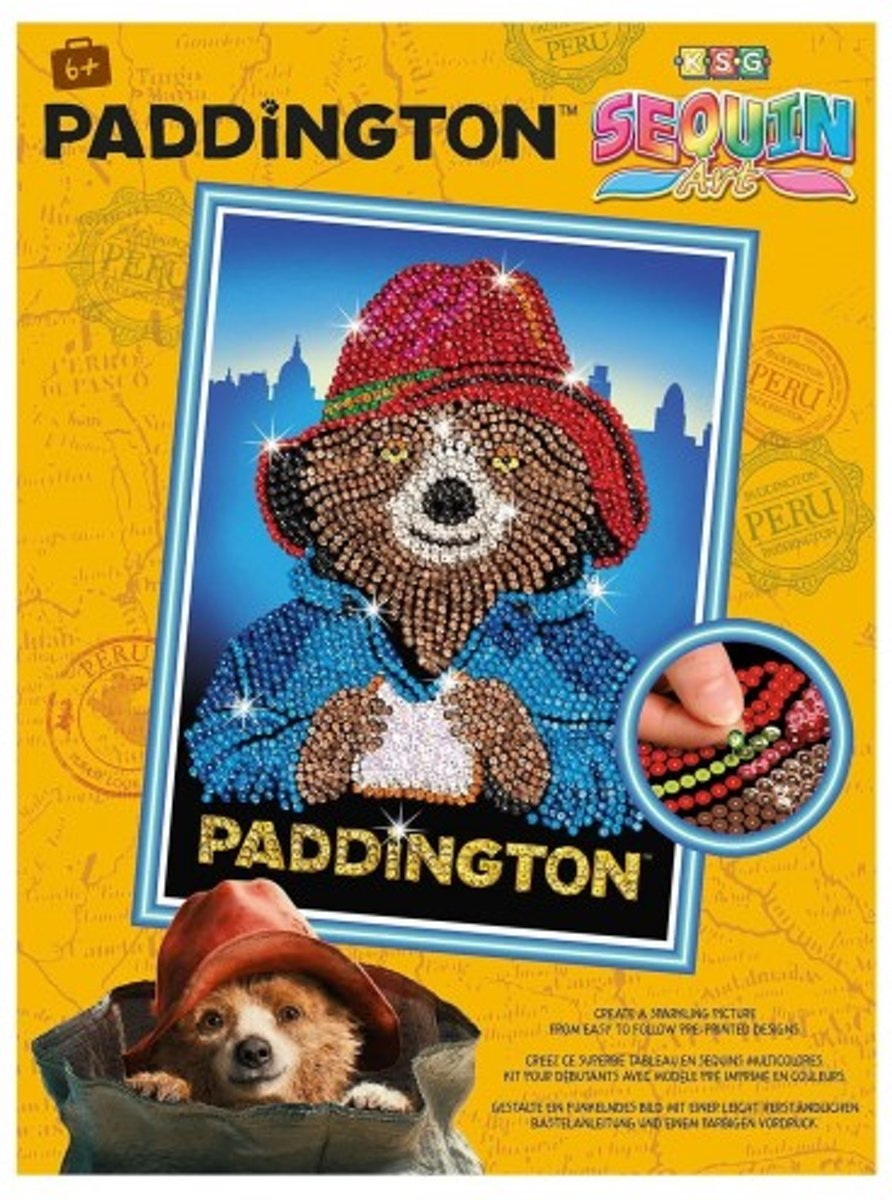 Sequin Art • Paddington movie face