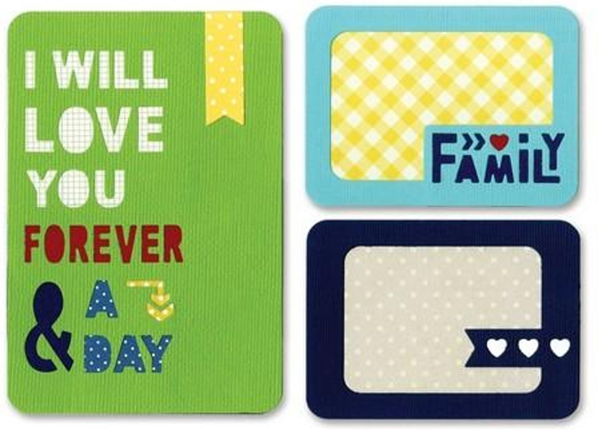 Sizzix Thinlits Mal Set - Forever & a Day 3Pak 659749 Life Made Simple