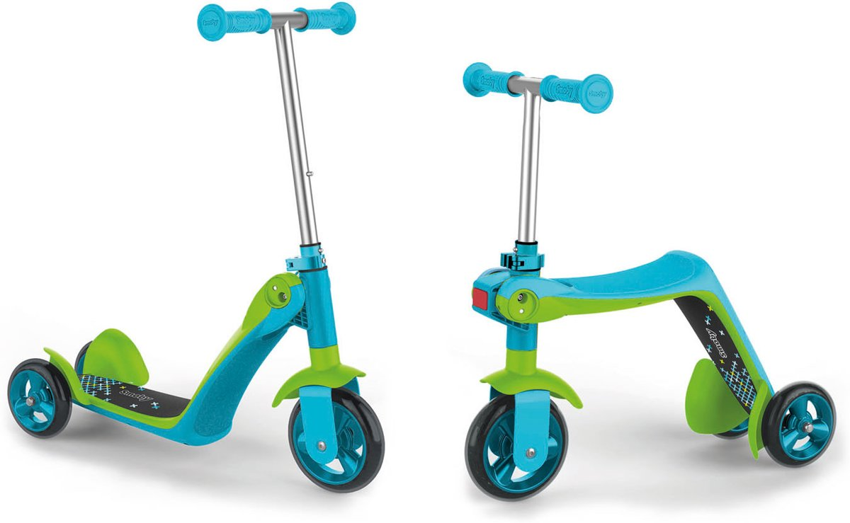 Smoby Reversible 2in1 Scooter Blauw