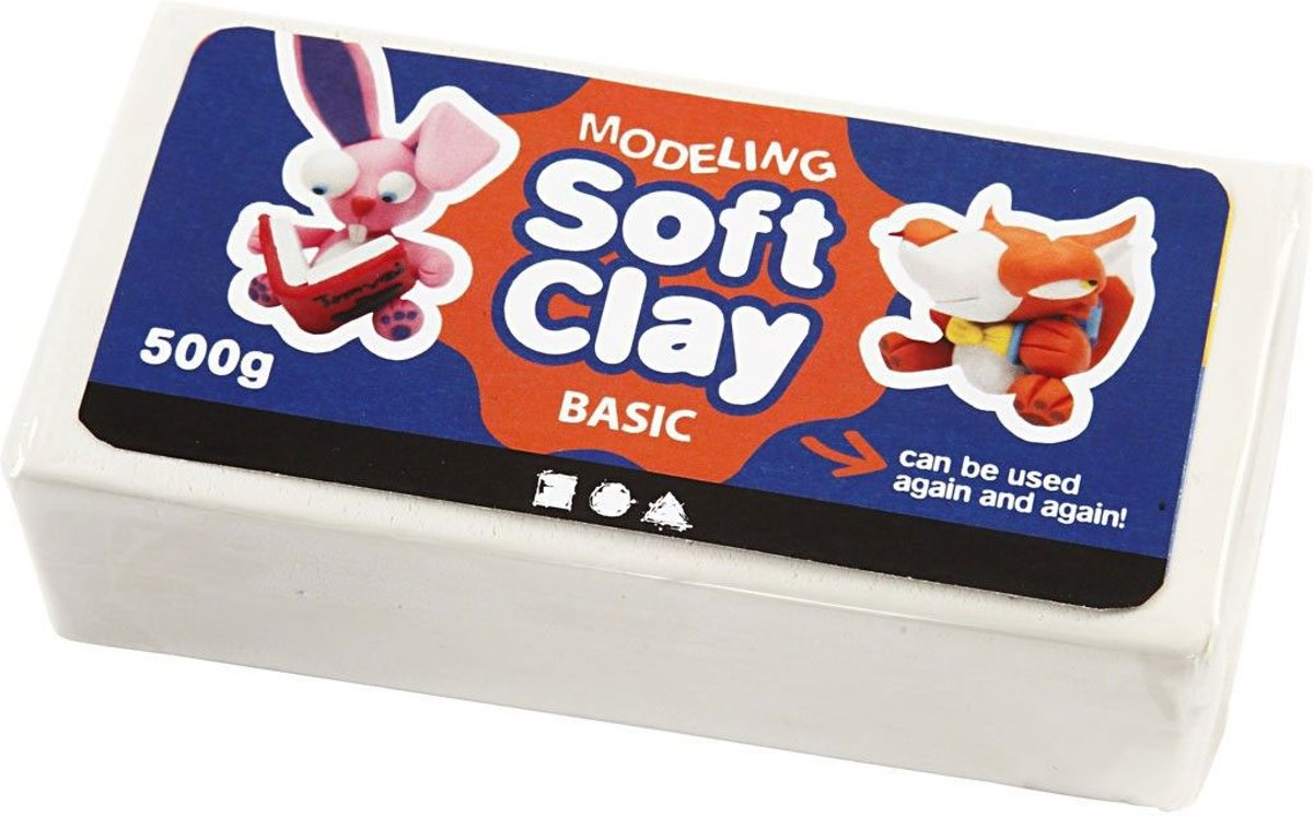 Soft Clay afm 13x6x4 cm wit 500gr