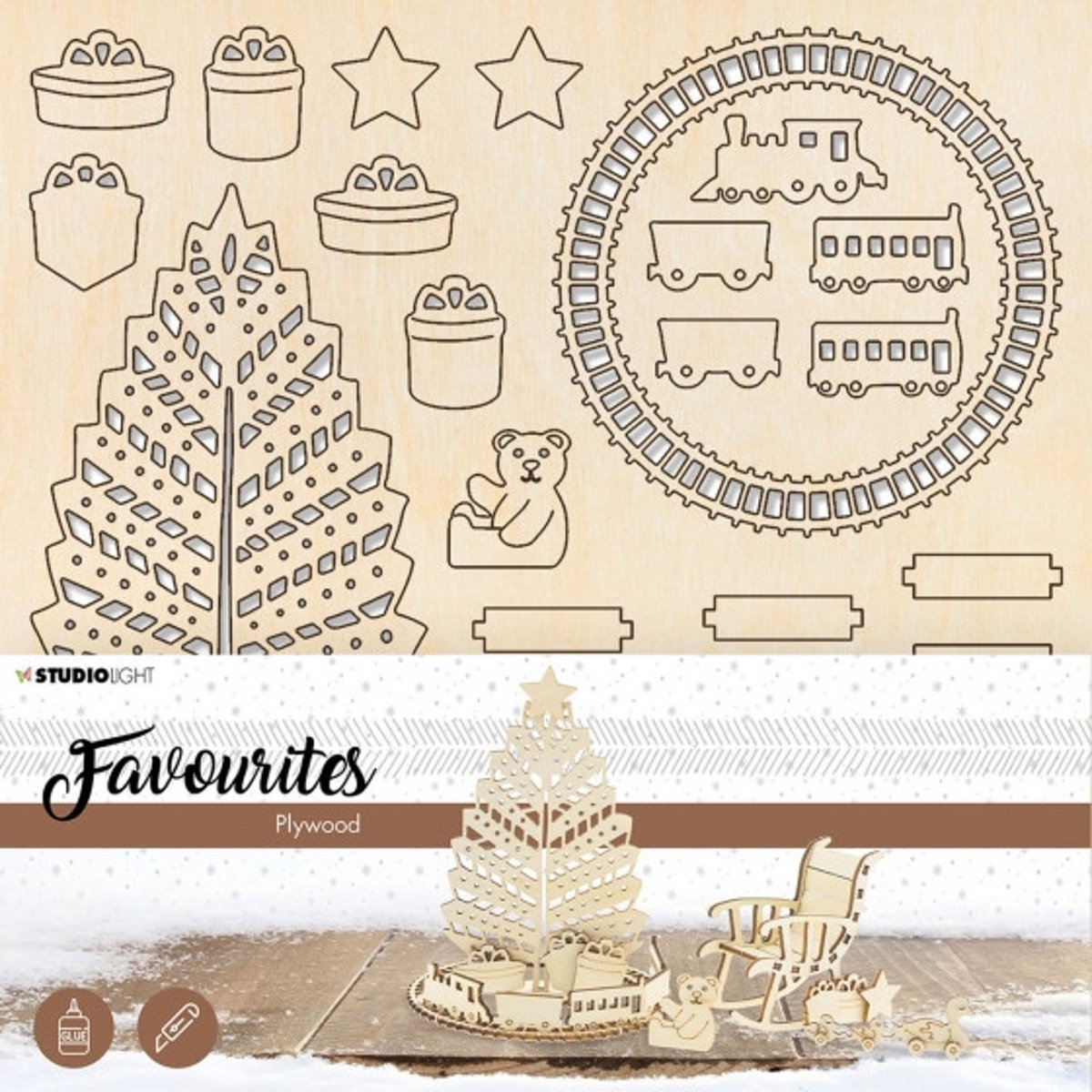 Studio Light • Plywood favourites christmas tree train nr.12