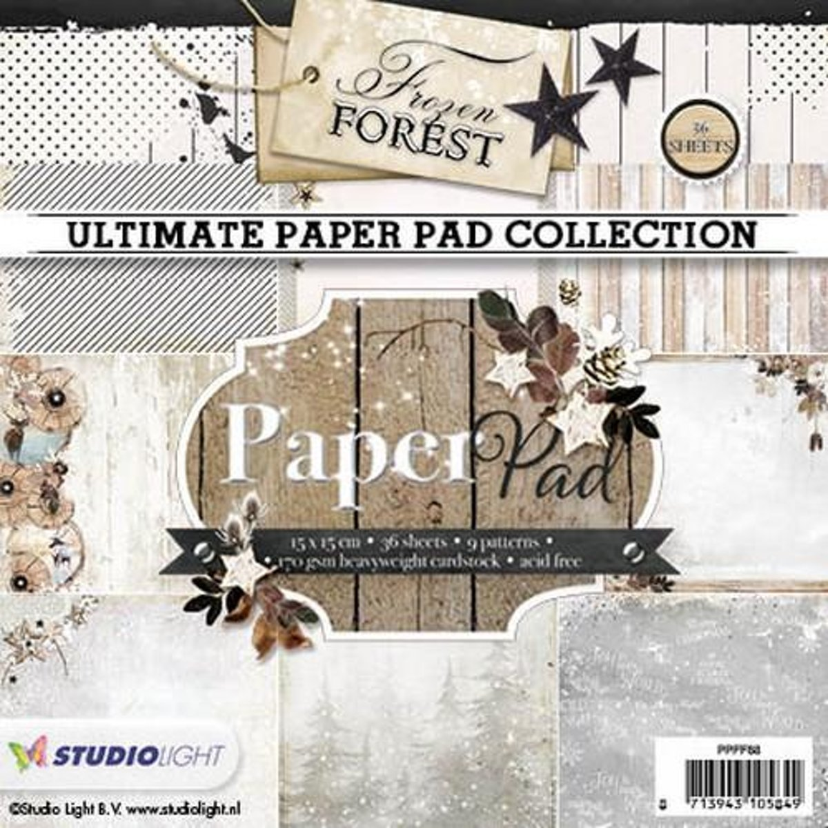 Studio Light Paper pad 36 vel 12 designs nummer 88 15x15 centimeter