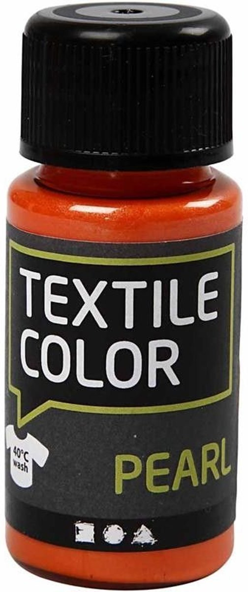 Textile Color, oranje, pearl, 50ml