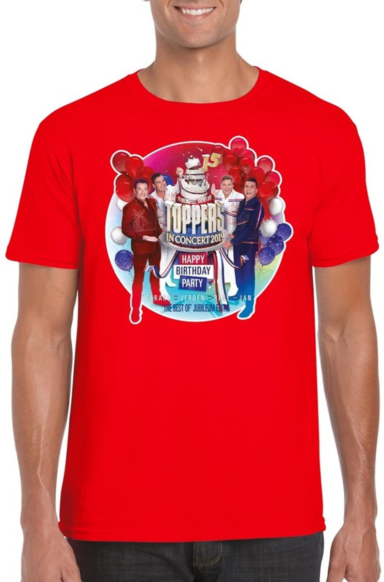 Toppers - Rood Toppers in concert 2019 officieel t-shirt heren - Officiele Toppers in concert merchandise L