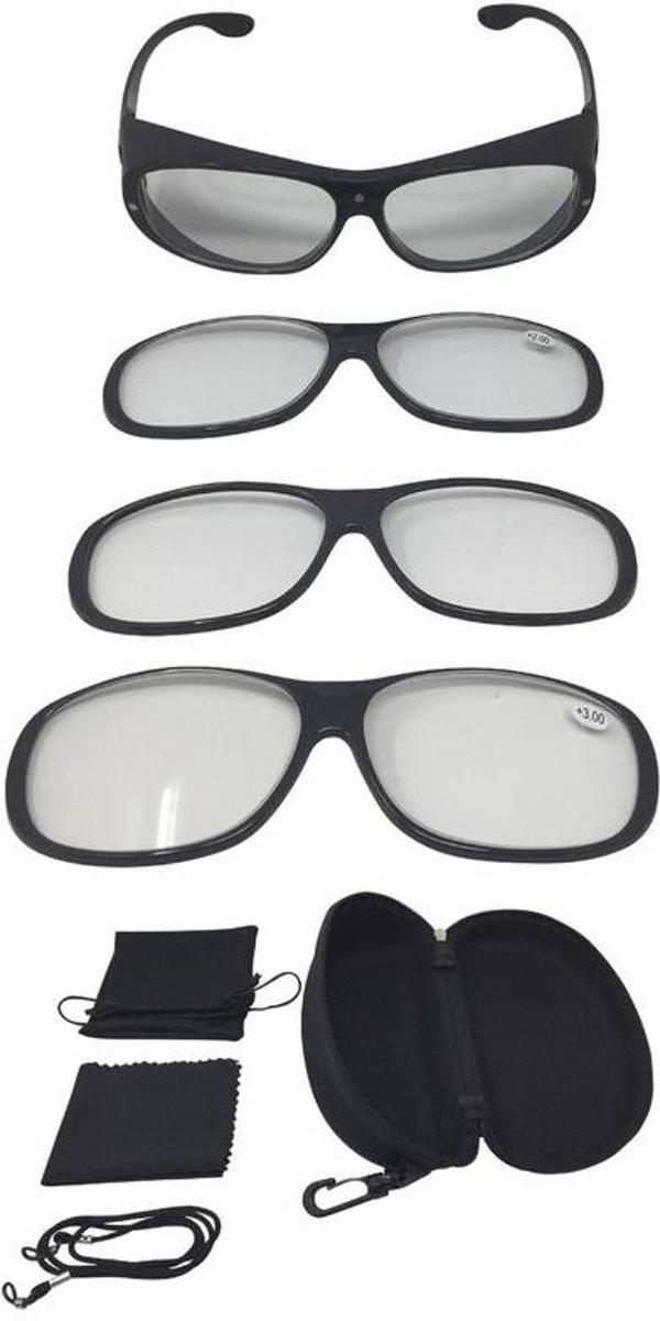 943f7a924c929f Vergrootglasbril Magneto Edition 9-delige set luipaardpatroon