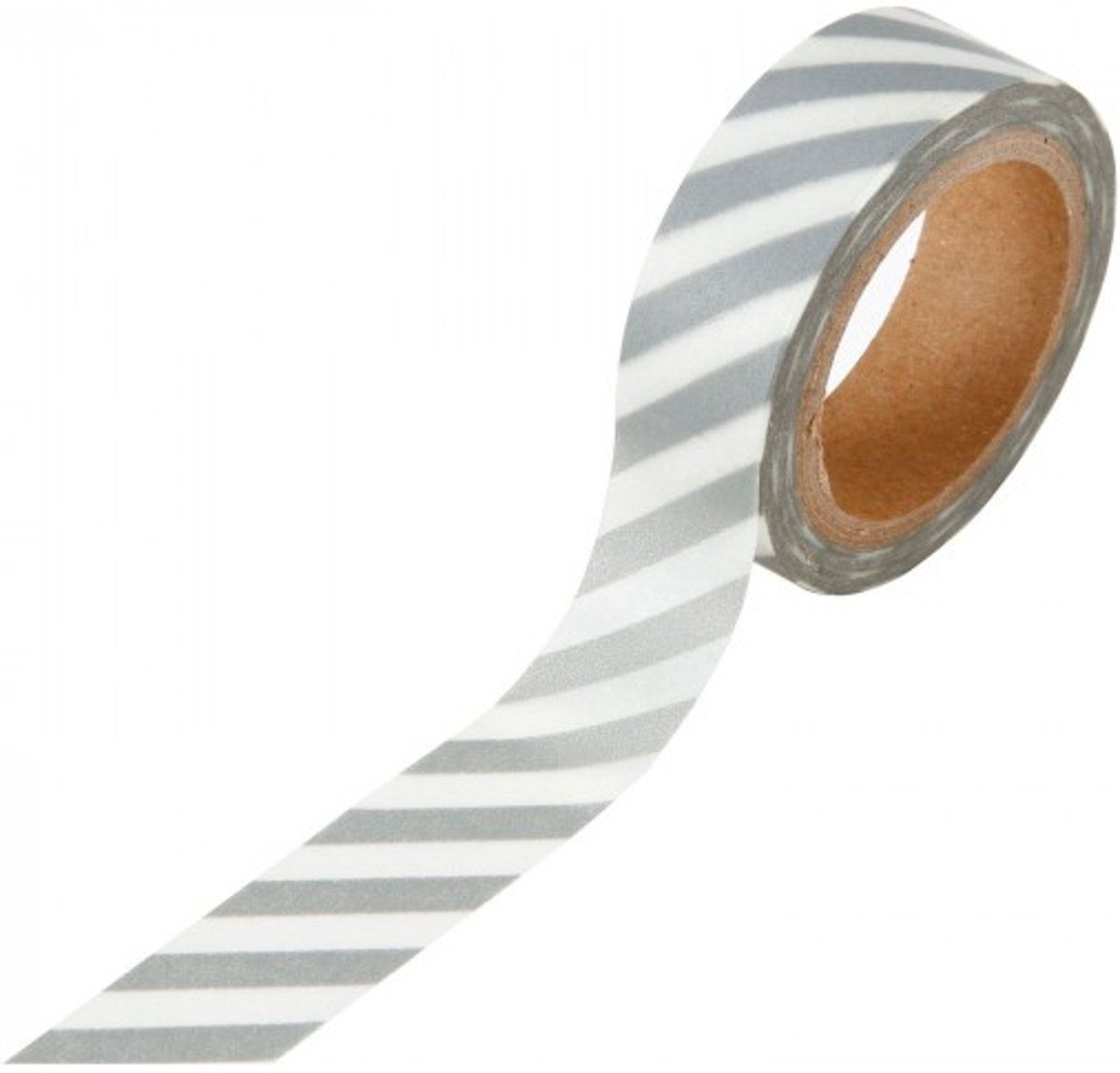 Washi tape 15mm x 8m white with silver