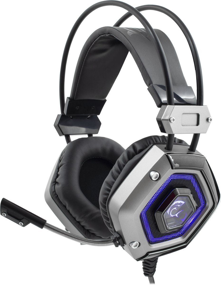 White Shark Lion Silver Gaming Headset
