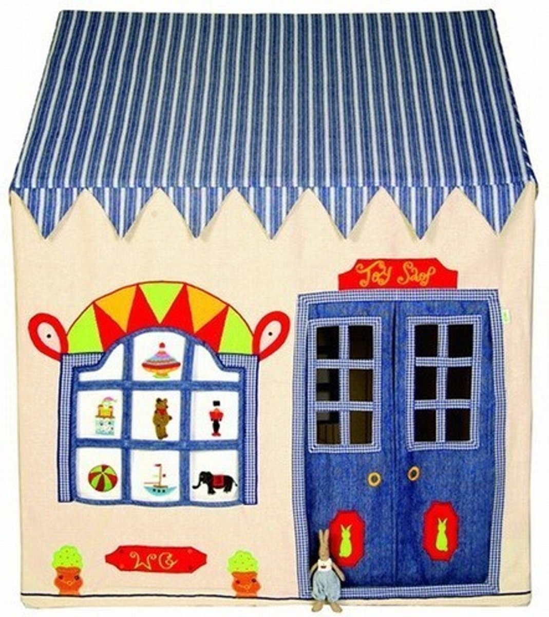 Win Green Toy Shop Playhouse (groot) + Floor Quilt
