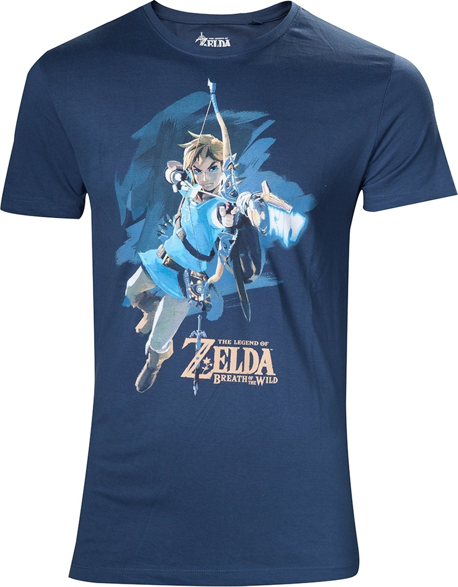 Zelda Breath of the Wild - Mens t-shirt Link with arrow - L