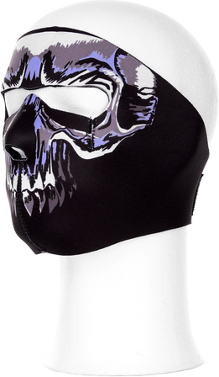 Biker mask full face skull blauw
