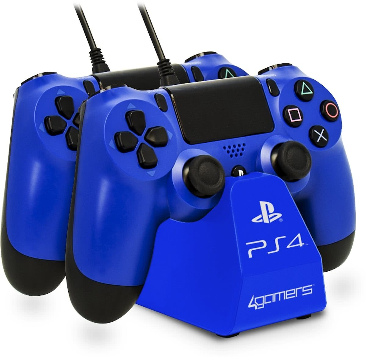 4G-4182 - Twin Play n - Oplaadstation - Blauw - PS4