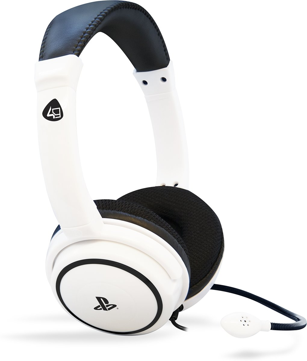 4Gamers PRO4-40 - Gaming Headset - Wit - PS4