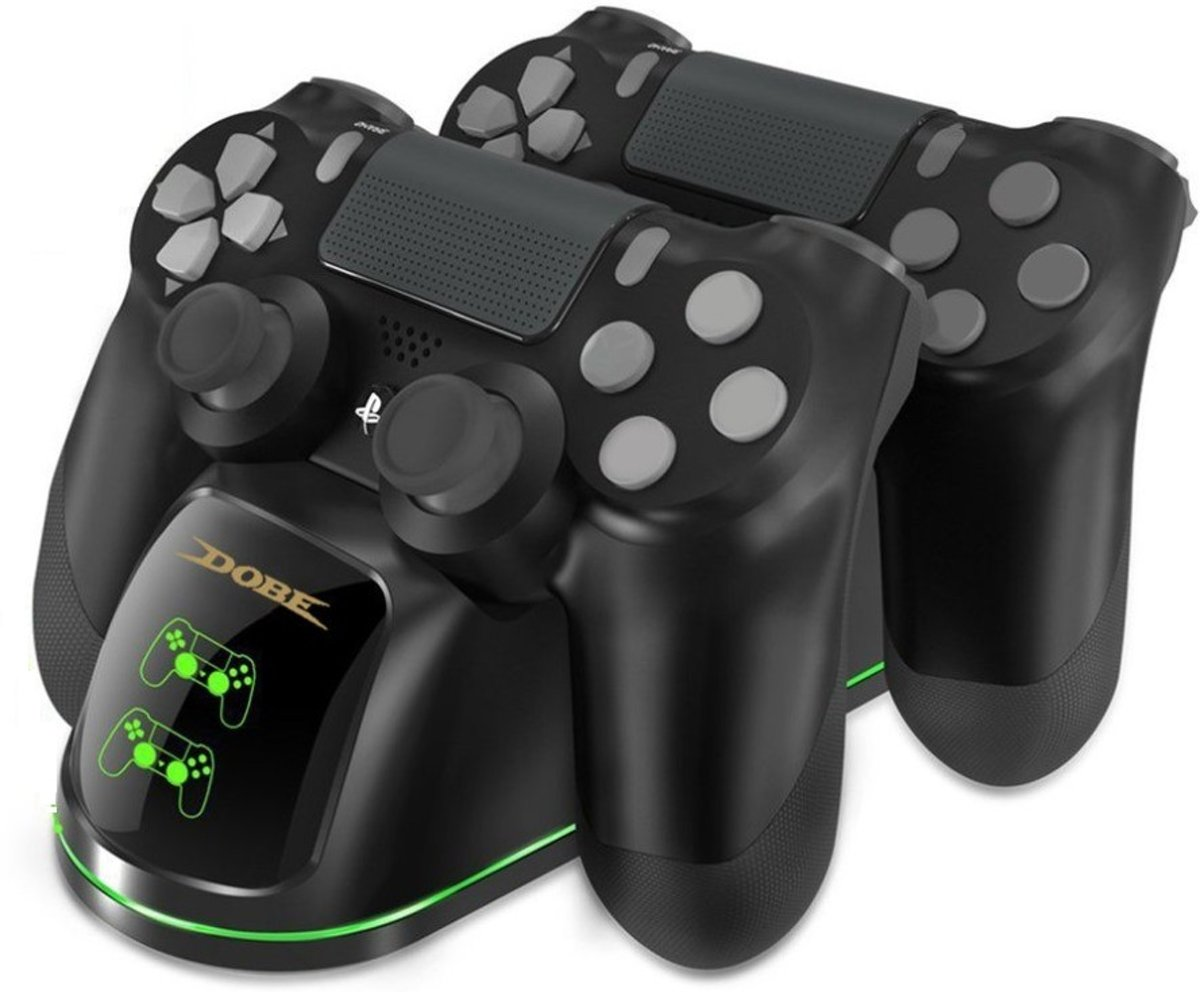 Dual Charging Dock Station - PlayStation 4 Gamepad Controller - Dubbel Duo Oplaadstation - PS4 controller