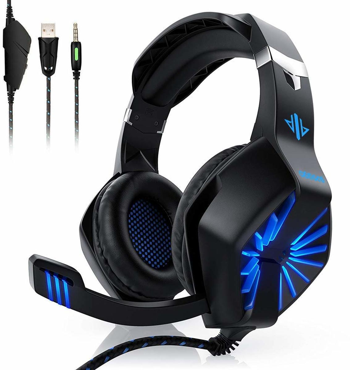 Gaming Headset - Headphone PC/ Playstation/ Xbox - Hoofdtelefoon met microfoon - LED verlichting