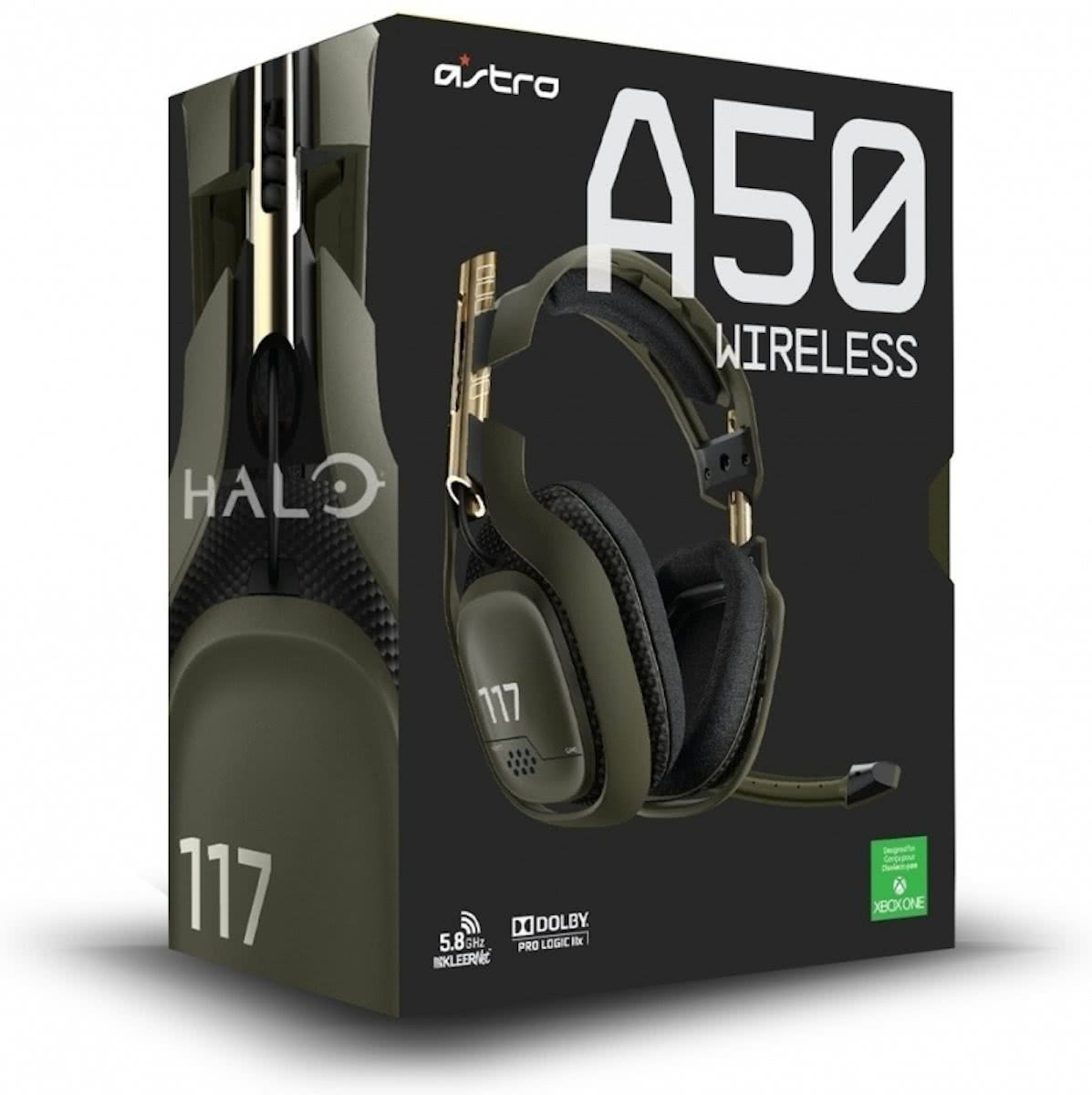 Astro Gaming A50 Wireless Highend-Headset, Halo-Edition, kabelloses Gaming Headset für Xbox 360*, Xbox One, PS4, PS3, Mac und PC