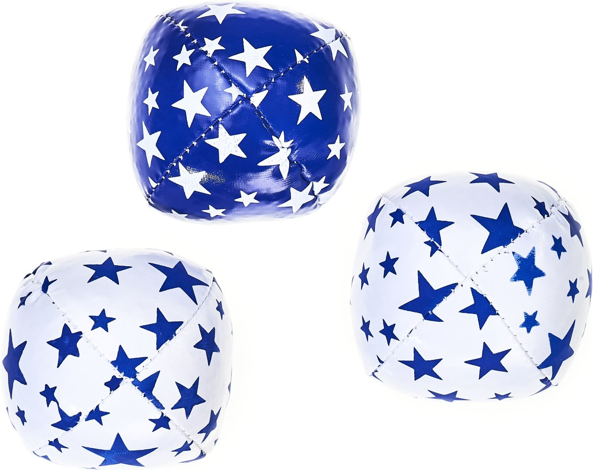 Set 3   Juggling Balls Junior (80g.) white & blue