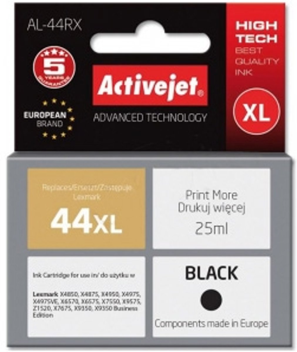 ActiveJet AL-44RX 25ml 540paginas Zwart Pigment inktcartridge
