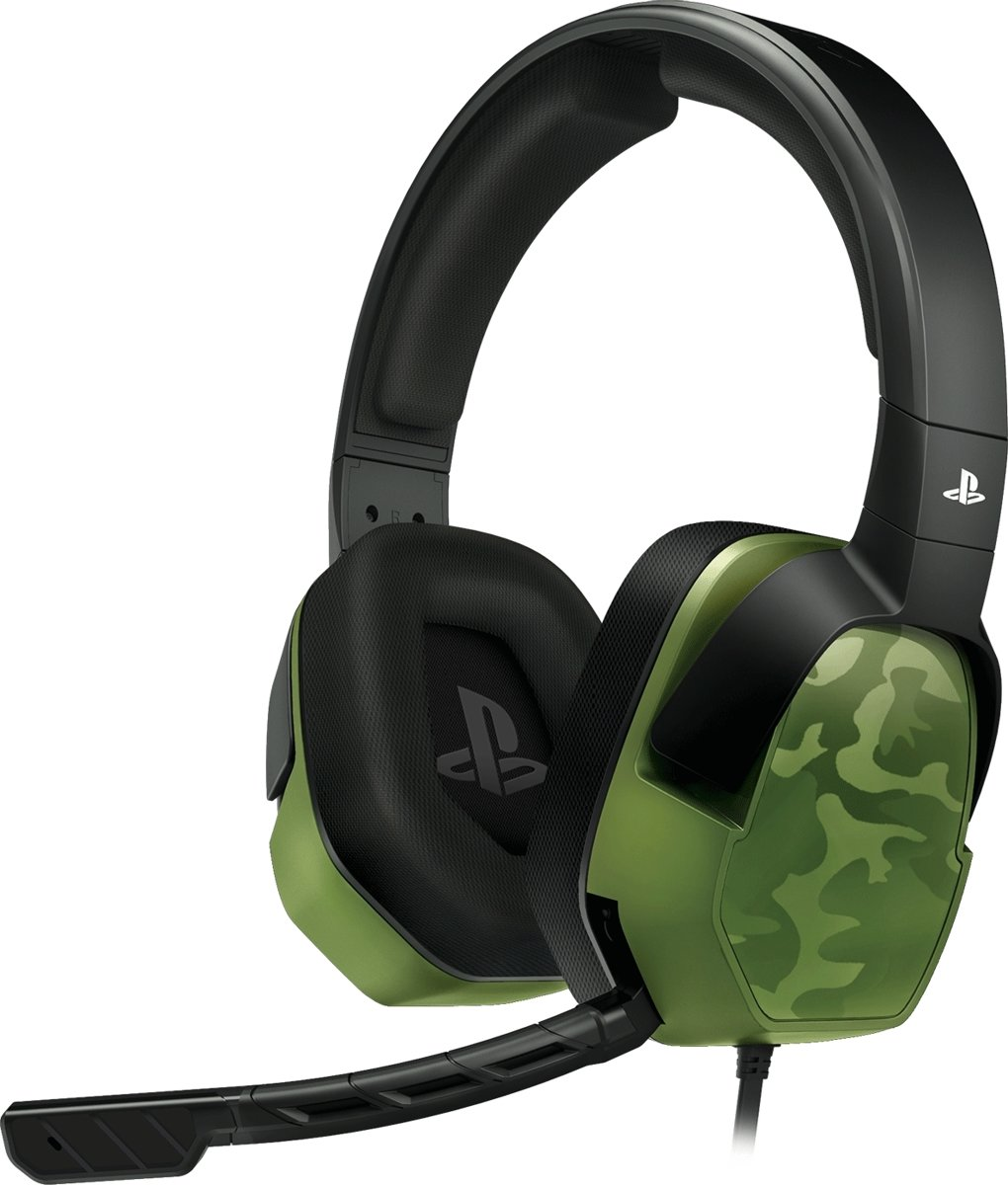 Afterglow LVL 3 - Gaming Headset - Offical Licensed - PS4 - Groen Camo