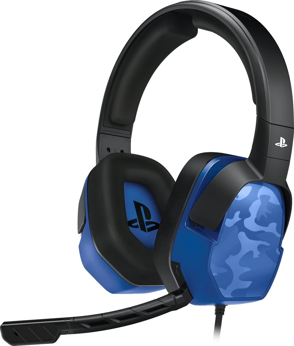 LVL 3 - Gaming Headset - Official Licensed - PS4 - Blauw Camo
