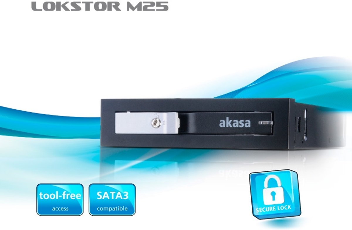 AKASA Lokstor M25 HDD bay voor 2,5 inc HDD/SSD (past in 3,5 inch plek)