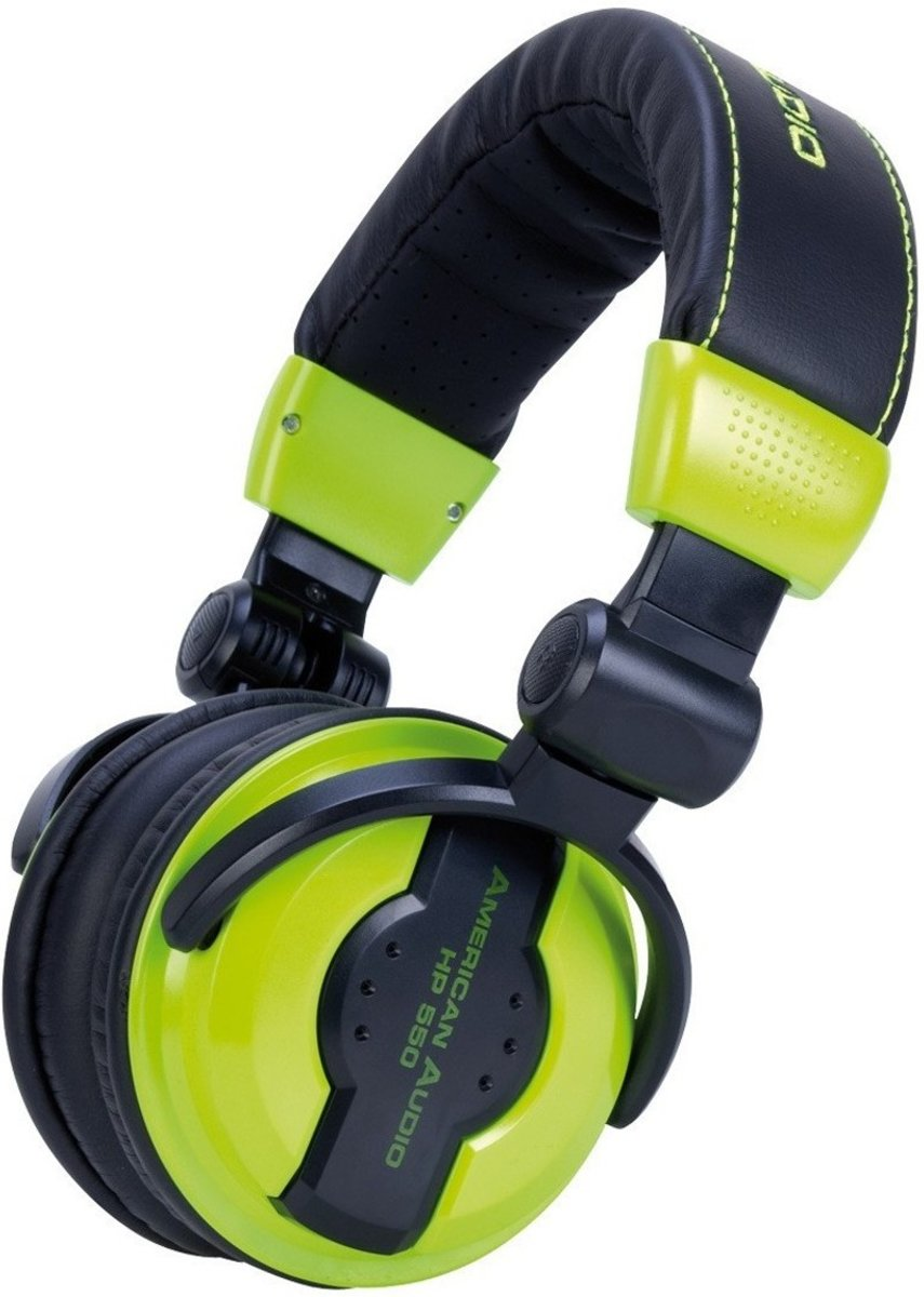 American Audio HP550 DJ Headphone - Lime