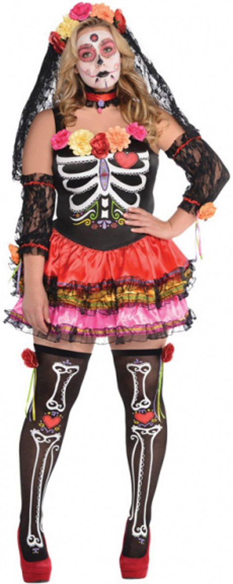 Ladies' Costume Day of the Dead Size XL