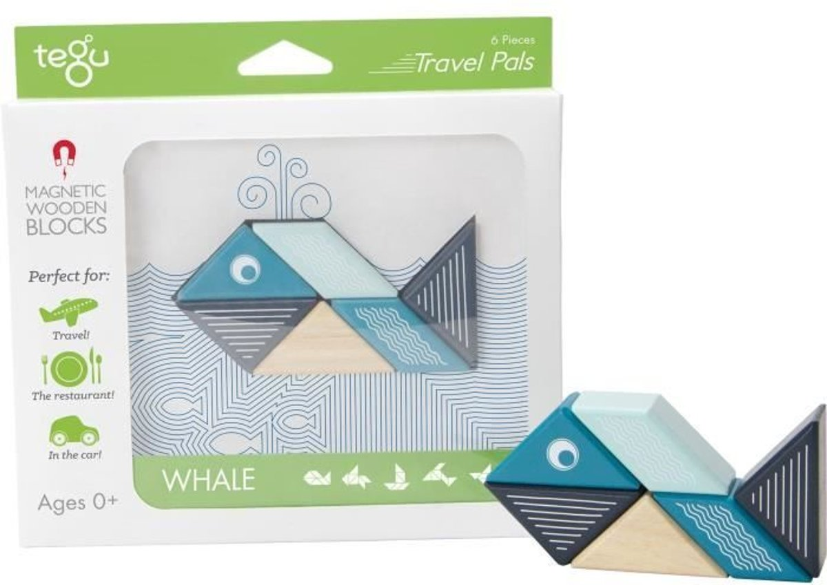 TEGU Pocket Buddy 6 Pieces Whale