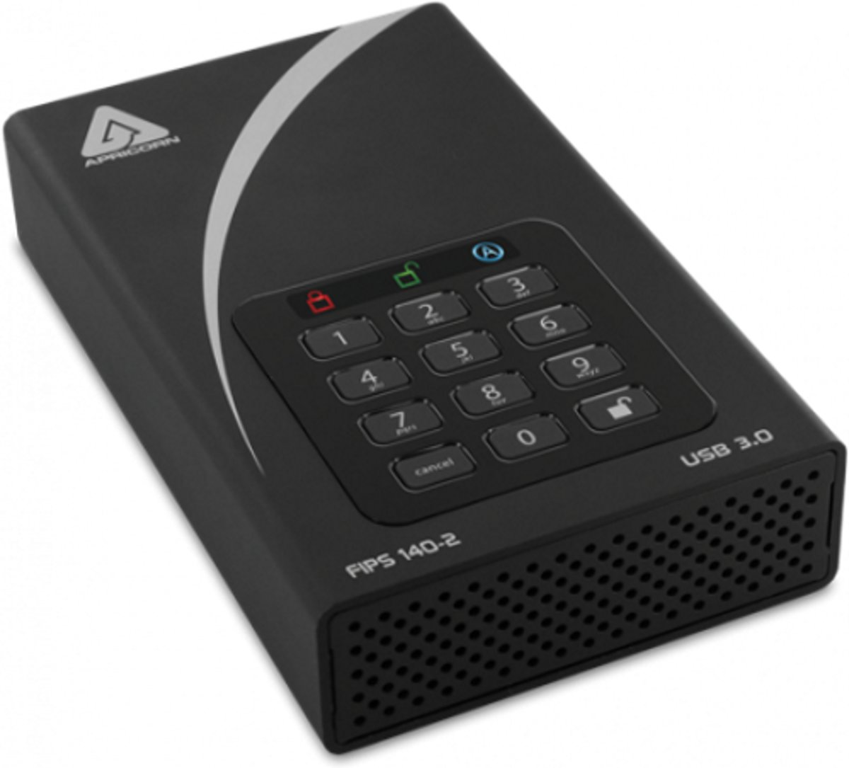 Apricorn Aegis Padlock DT FIPS 8TB - Externe HDD harde schijf